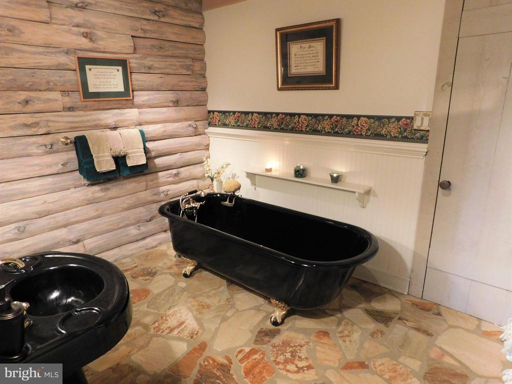 Main level full bath with Victorian claw-foot tub - 11713 WAYNE LN, BUMPASS