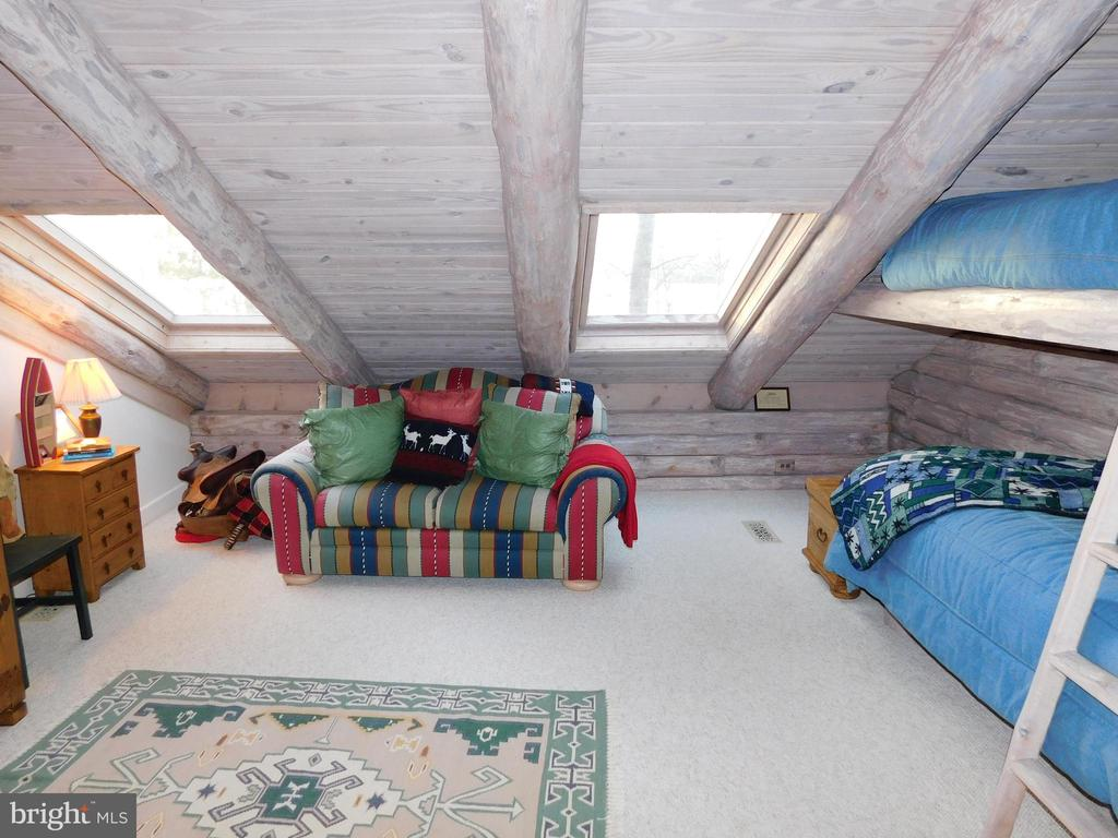 Upstairs Bedroom #2 (Bunk Room) with skylights - 11713 WAYNE LN, BUMPASS