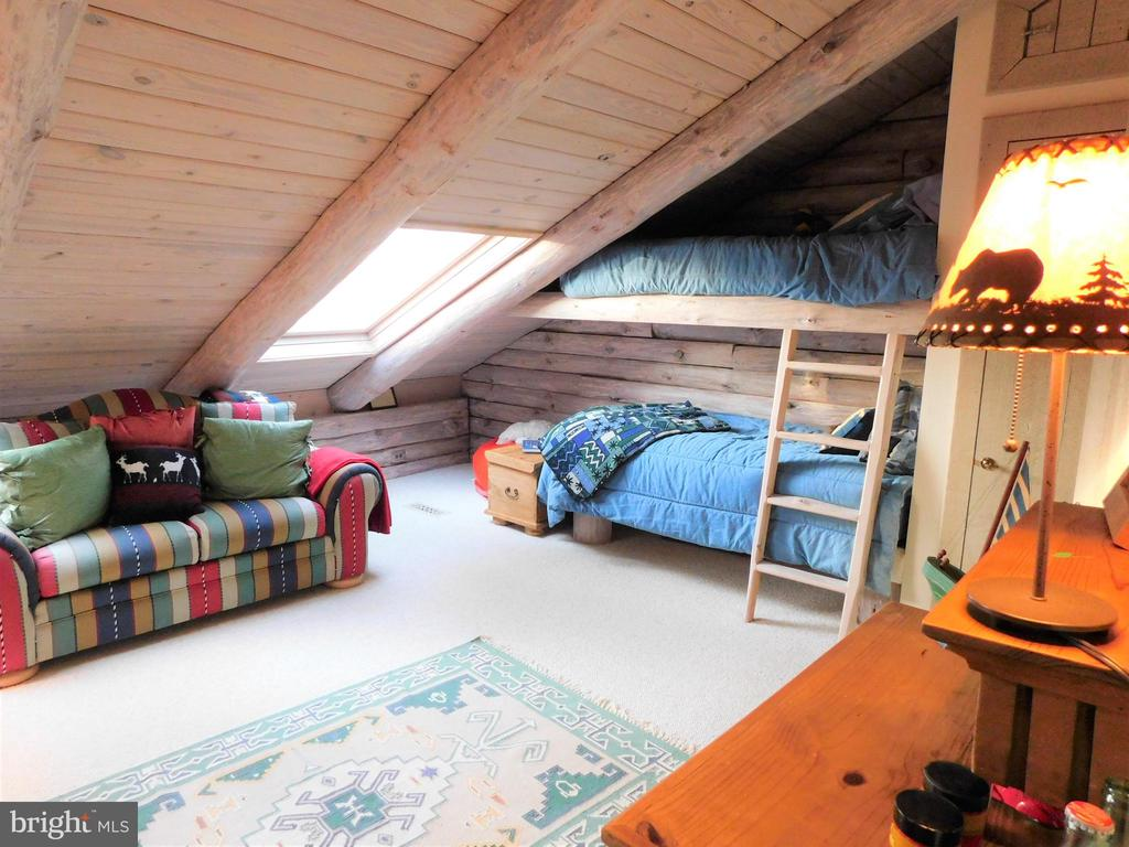 Upstairs Bedroom #2 (Bunk Room) with skylights - 11713 WAYNE LN, BUMPASS