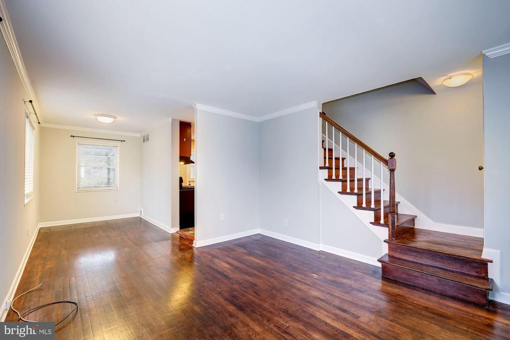 Living Room Boasts Beautiful Hardwood Floors! - 4405 VERMONT AVE, ALEXANDRIA