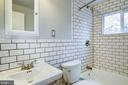 Full Bathroom #1 - Located at Upstairs Level - 4405 VERMONT AVE, ALEXANDRIA