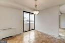 Dining Room toward Living Room and balcony - 4141 HENDERSON RD #324, ARLINGTON