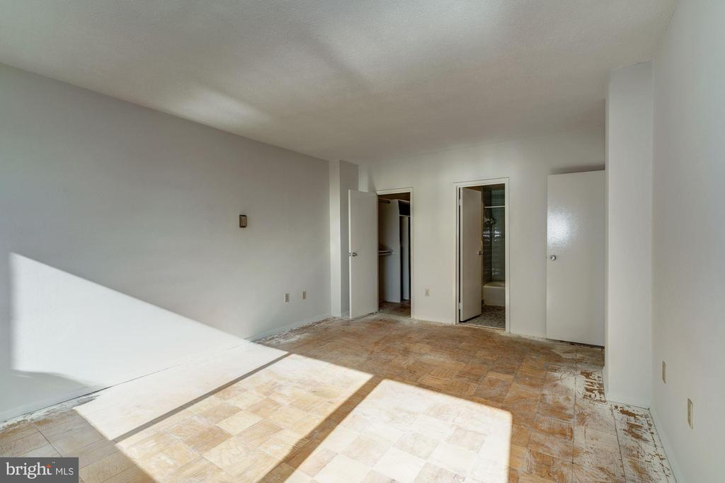 Master Bedroom toward closet and Master Bath - 4141 HENDERSON RD #324, ARLINGTON