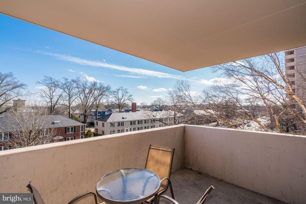 Spacious balcony with pleasant view - 4141 HENDERSON RD #324, ARLINGTON