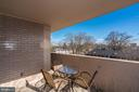 Balcony is large enough to actually use and enjoy! - 4141 HENDERSON RD #324, ARLINGTON
