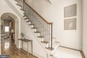 Entry Foyer/Main Staircase - 1809 PHELPS PL NW, WASHINGTON