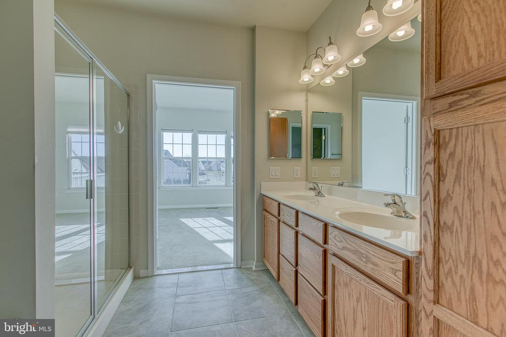 Master bath with walk in shower - 220 LONG POINT DR, FREDERICKSBURG