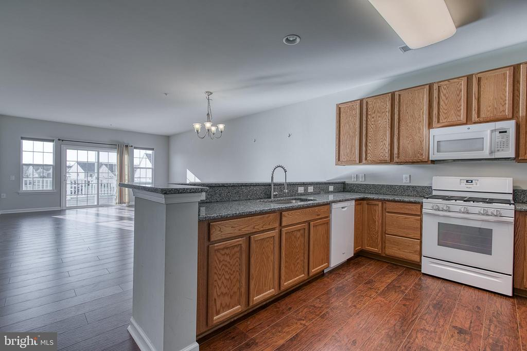 Open floor plan  with new granite in kitchen - 220 LONG POINT DR, FREDERICKSBURG