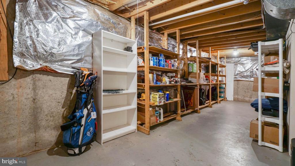 Built in storage in basement, high ceilings - 13 MEADOWGATE CIR, GAITHERSBURG