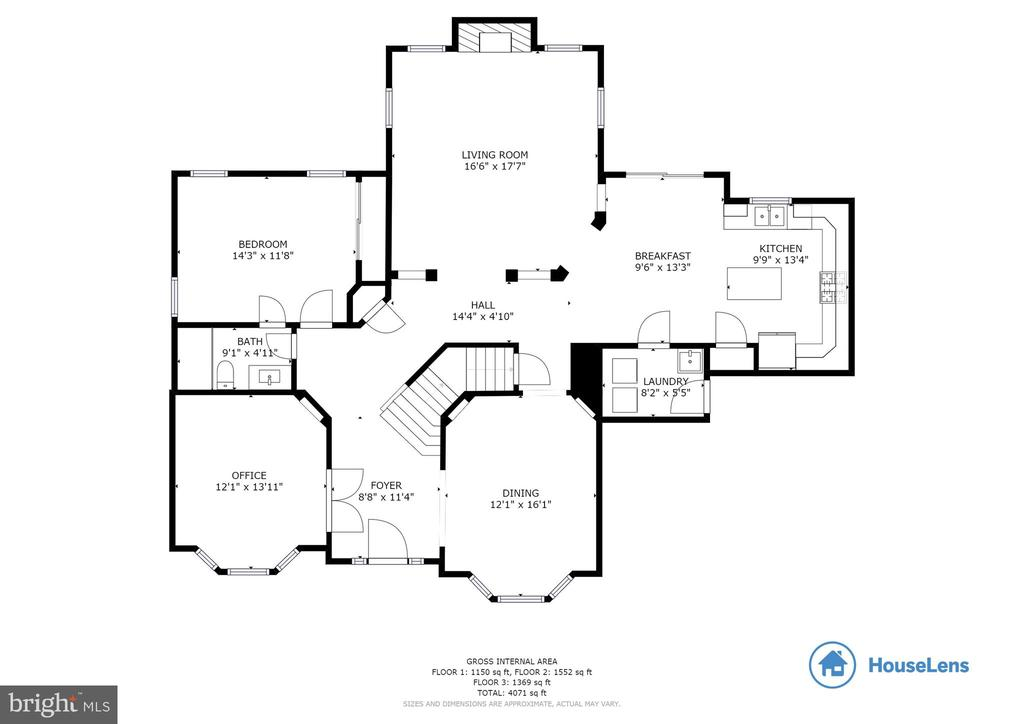 Floorplan Main Level - 29 HUBBARD CT, STAFFORD