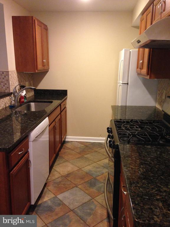 Cottage kitchen with granite counters - 437 WINDWOOD LN, PARIS