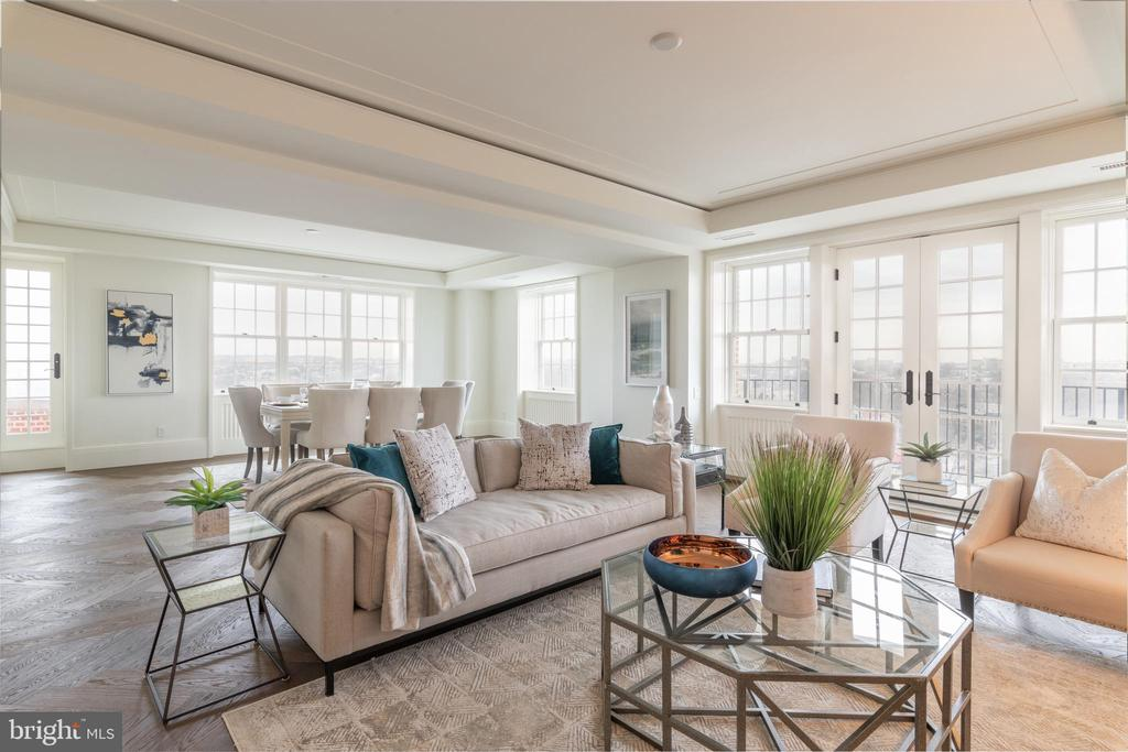 Expansive Living and Dining Areas - 2660 CONNECTICUT AVE NW #5C, WASHINGTON