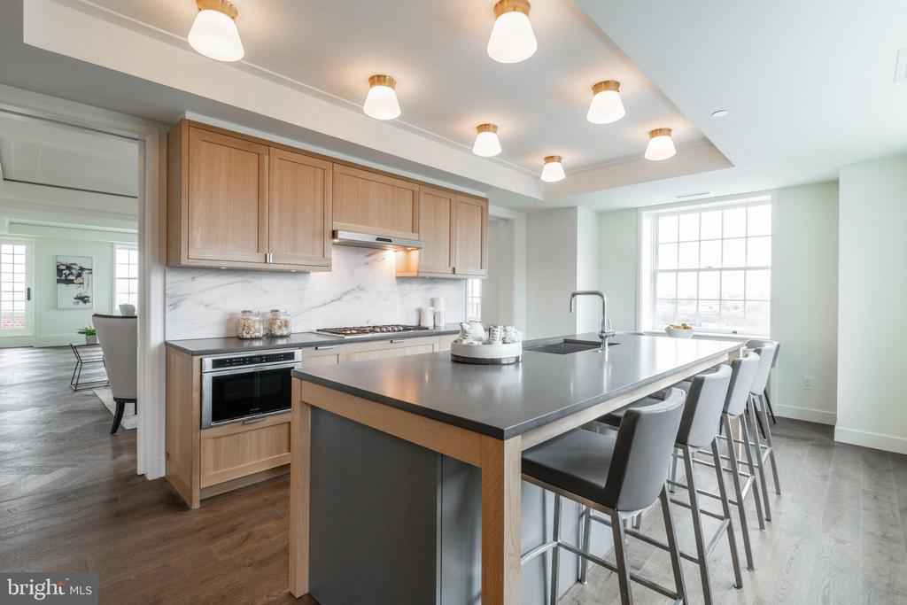 Gourmet Kitchen with Breakfast Bar - 2660 CONNECTICUT AVE NW #5C, WASHINGTON
