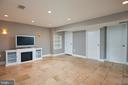 Spacious lower level with recessed lighting - 11006 HARRIET LN, KENSINGTON