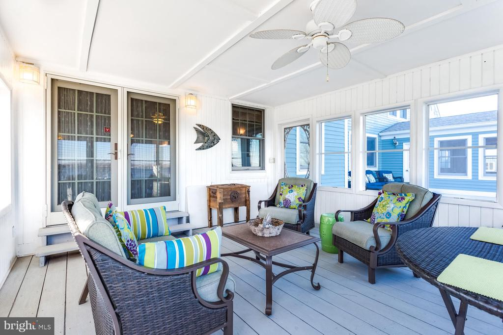 Screened Porch leads out to Deck - 15798 LANCASTER FARM RD, NEWBURG