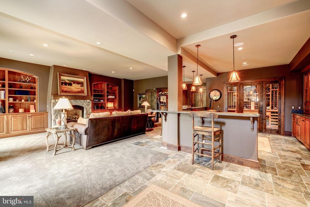 Recreation Room w/Bar - 8001 OVERHILL RD, BETHESDA