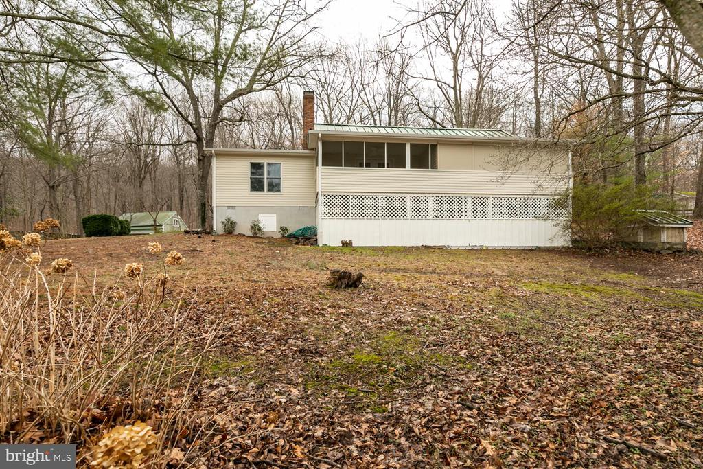 Rear of home - 2468 MOUNT CARMEL RD, BLUEMONT