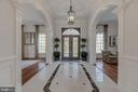 Formal Entry Foyer- 11 ft. Ceilings on Main Level - 8429 BROOK RD, MCLEAN
