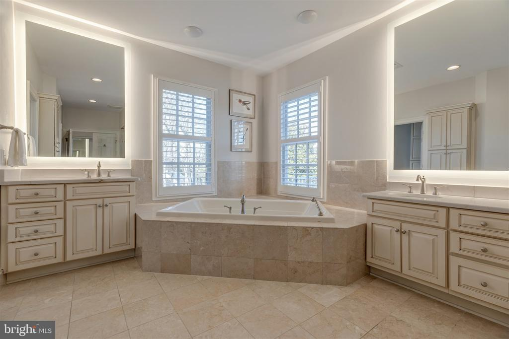 Newly Renovated Master Bath with Jacuzzi - 8429 BROOK RD, MCLEAN
