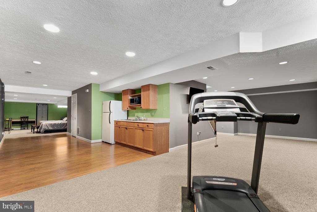 Basement Rec Room, Kitchenette, and Bonus Room - 17715 GLOBE THEATRE DR, OLNEY