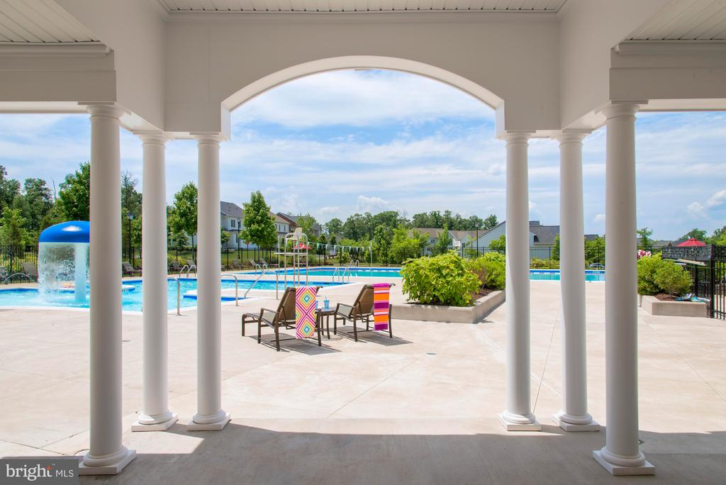 Community Pool with Patio Seat - 23561 HOPEWELL MANOR TER, ASHBURN