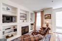 Family Room w/Gas Fireplace and Built-In Bookcases - 12086 KINSLEY PL, RESTON