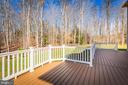 Wooded Lot View off Entertainment Deck - 8108 SPRUCE VALLEY LN, CLIFTON