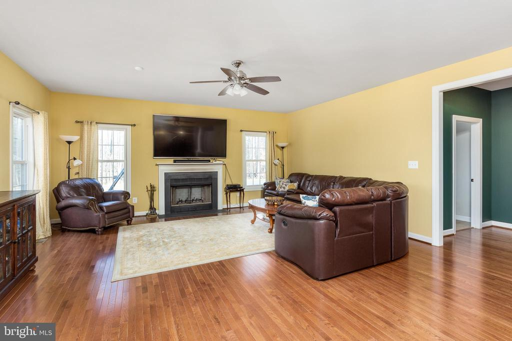 Family Room with wood-burning Fireplace - 8108 SPRUCE VALLEY LN, CLIFTON
