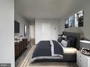 Bedroom Design Concept | Virtually Staged - 4242 EAST WEST HWY #901, CHEVY CHASE