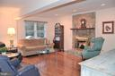 Main level family room with gas fireplace - 5827 WESSEX LN, ALEXANDRIA