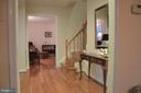 Foyer entry into living room - 5827 WESSEX LN, ALEXANDRIA