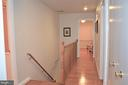 Upper level hallway; all bedrooms on same level - 5827 WESSEX LN, ALEXANDRIA