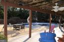 Ground level back patio leads to pool deck - 5827 WESSEX LN, ALEXANDRIA