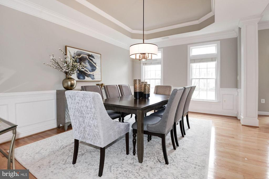 Dining  Room w/Tray Ceiling - 12184 HICKORY KNOLL PL, FAIRFAX