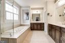 Master Bath w/Frameless Shower Door - 12184 HICKORY KNOLL PL, FAIRFAX