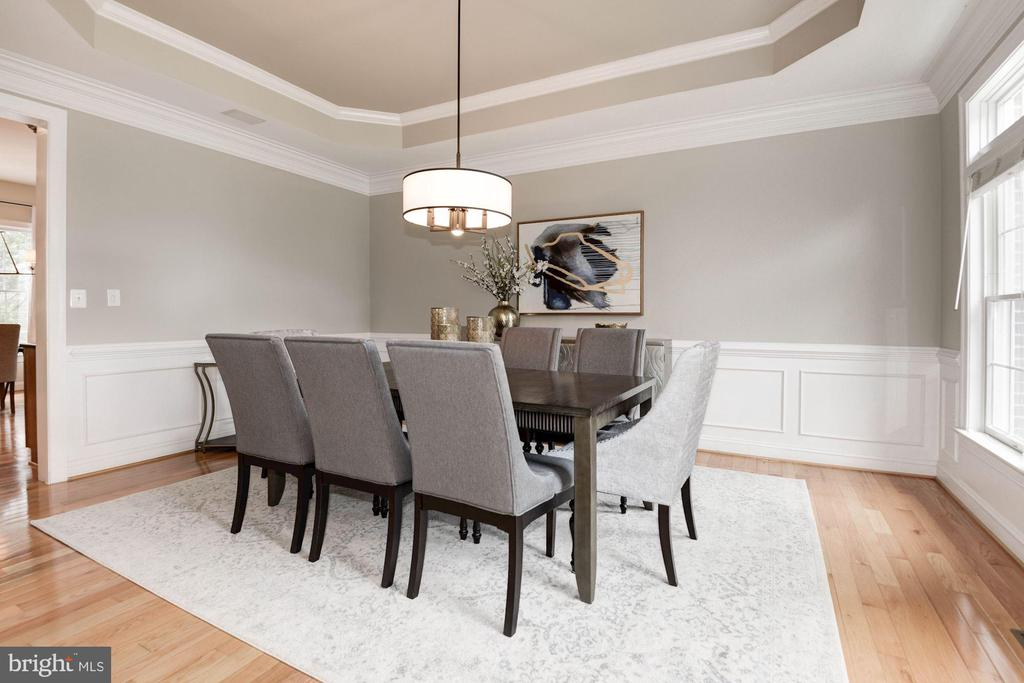 Dining Room w/ Wainscoting & Molding - 12184 HICKORY KNOLL PL, FAIRFAX