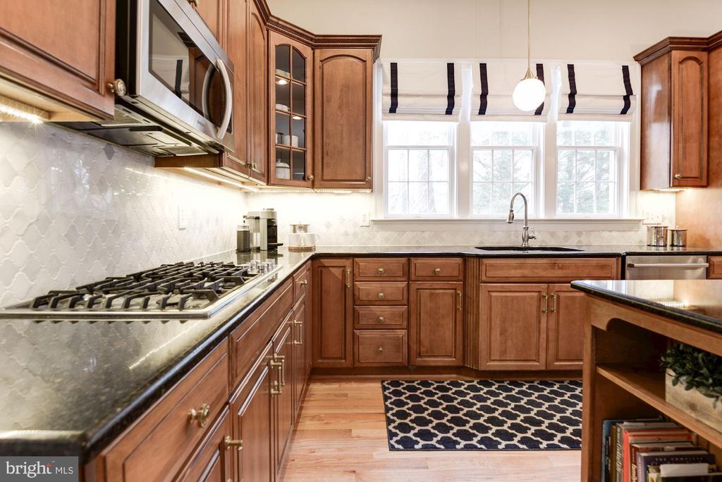 Kitchen w/Custom Window Treatments - 12184 HICKORY KNOLL PL, FAIRFAX