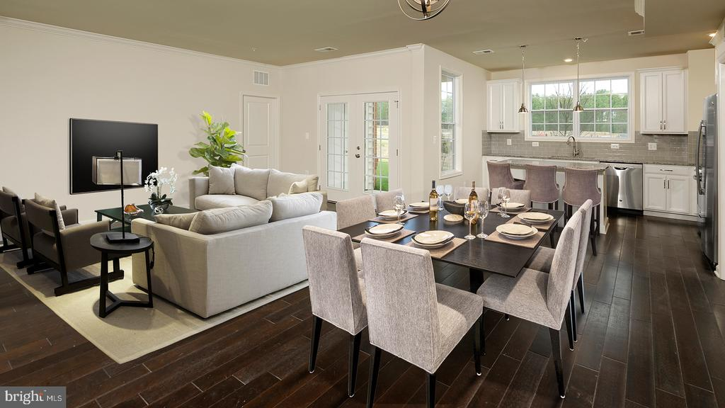 Litchfield Kitchen/Dining Combined - 23265 MILLTOWN KNOLL SQ #102, ASHBURN