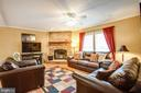 Family Room w/ Wood Burning Fireplace - 11601 ORANGE PLANK RD, SPOTSYLVANIA