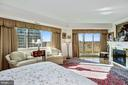 Master bedroom with private balcony - 5600 WISCONSIN AVE #1308, CHEVY CHASE