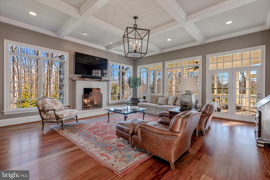 Spacious Family Room with Gas Fireplace - 8429 BROOK RD, MCLEAN