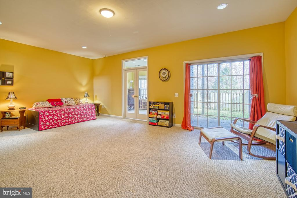 Recreation Room Leads to Backyard - 22710 DEXTER HOUSE TER, ASHBURN