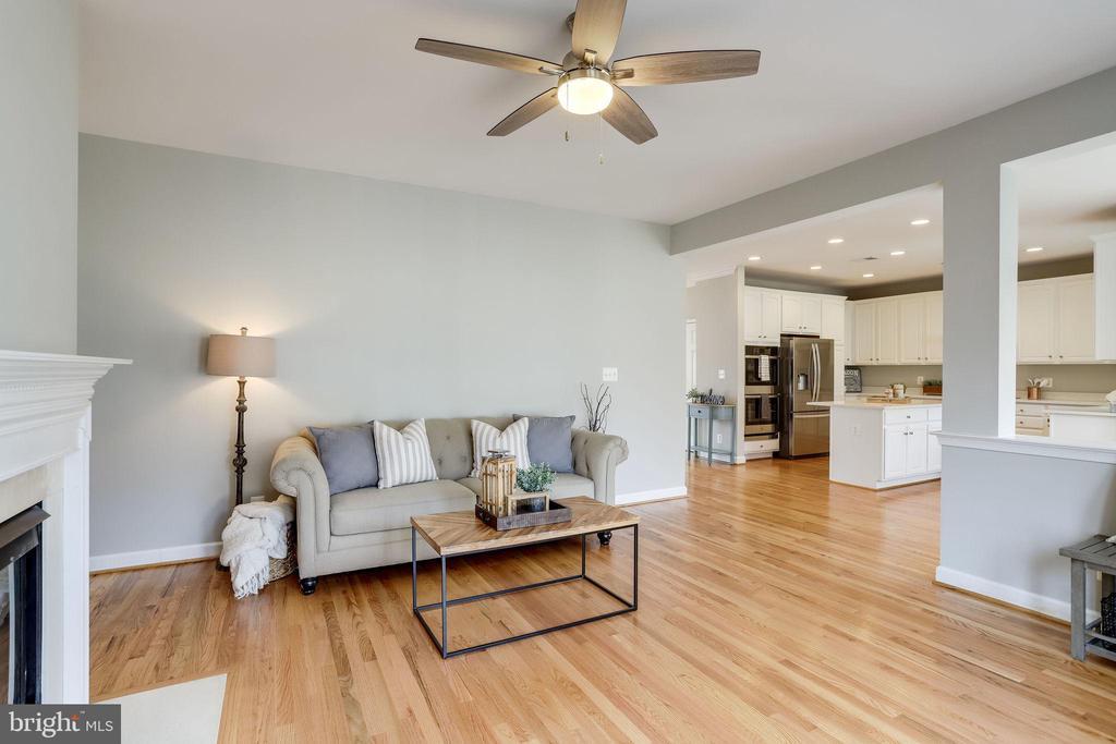 Living Room with Wood Floors - 2952 22ND ST S, ARLINGTON
