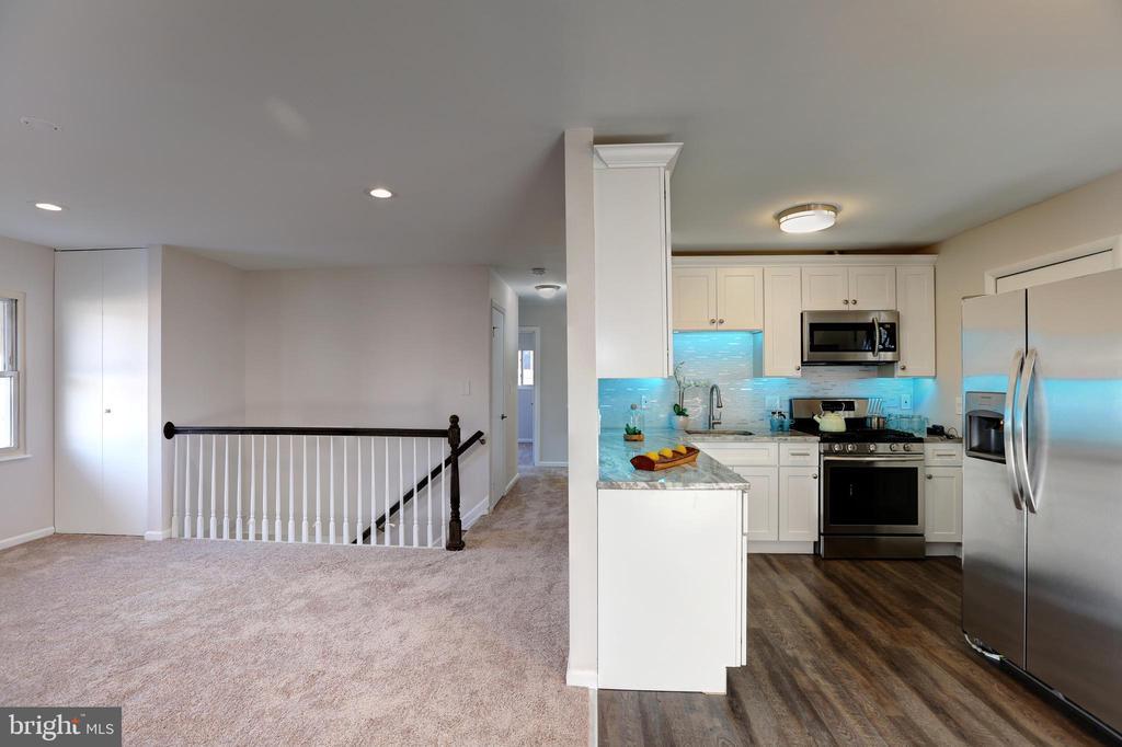 Living Area & Kitchen - 7907 TYLER ST, GLENARDEN