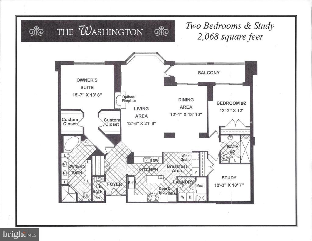 Floor plan unit #302 - 1201 N NASH ST #302, ARLINGTON