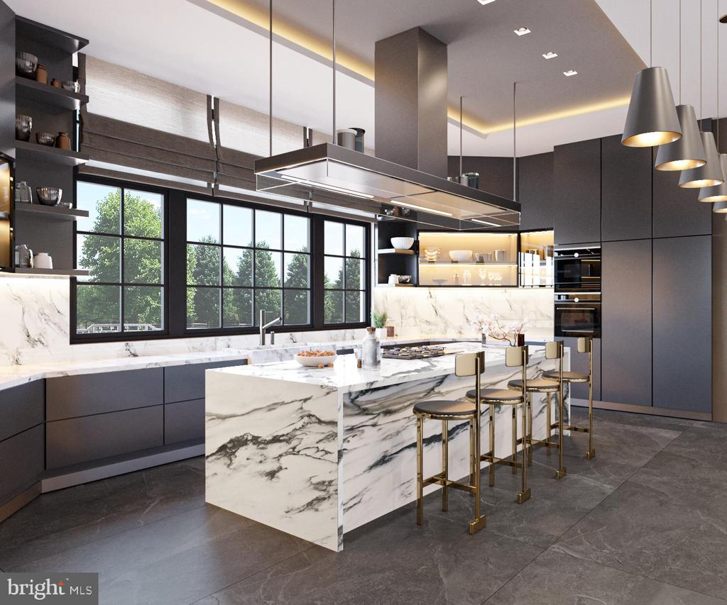 Gourmet Kitchen - Rendering - 1171 CHAIN BRIDGE RD, MCLEAN