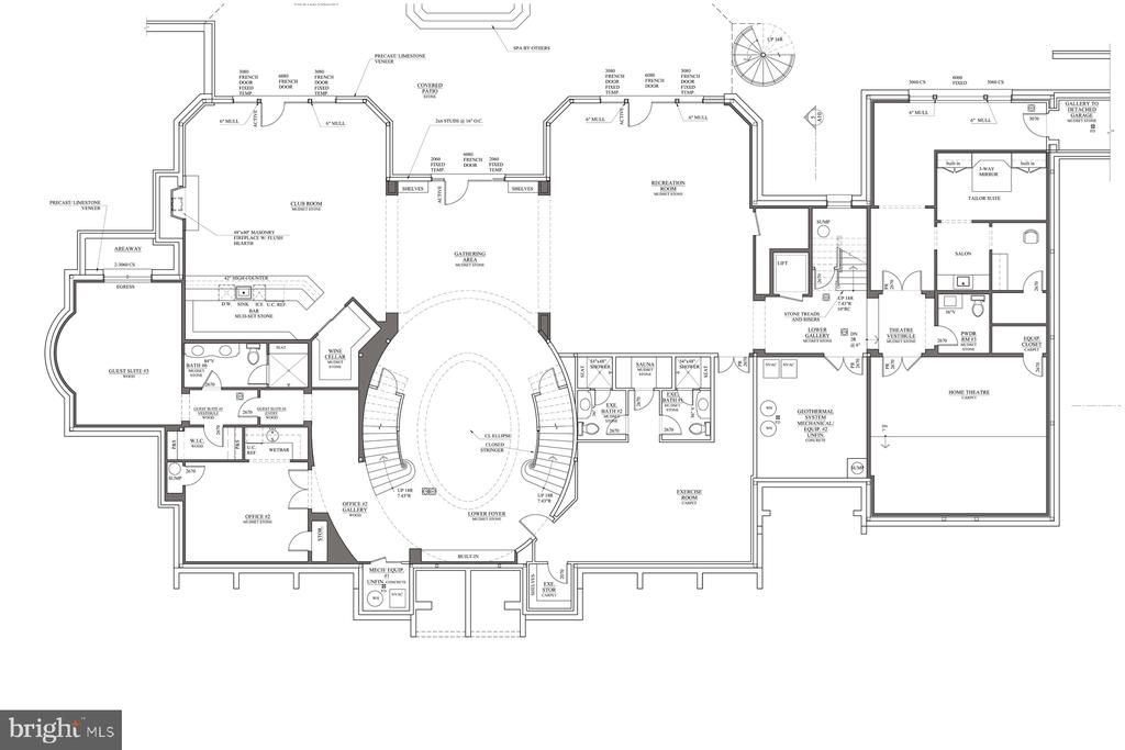 Floor Plan - Lower Level - 1171 CHAIN BRIDGE RD, MCLEAN