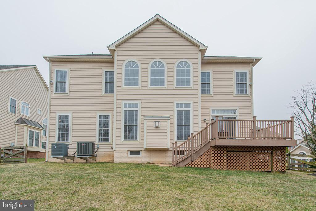 Rear Elevation - 4000 BELVEDERE LN, FREDERICK