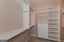 2 Walk-in Closets in Master Bedroom - 4000 BELVEDERE LN, FREDERICK