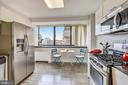 Remodeled eat-in kitchen with a lovely view! - 4141 N HENDERSON RD #1011, ARLINGTON